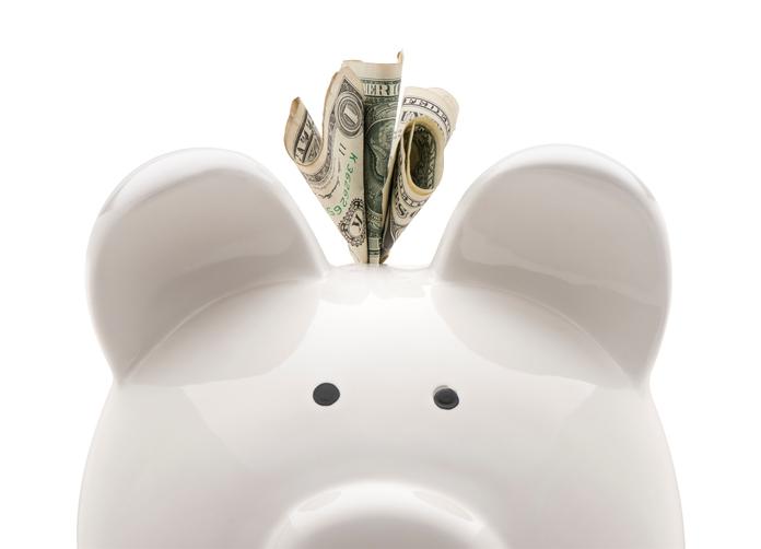 Close-up piggy bank