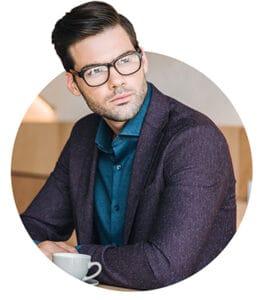 Businessman with eyeglasses