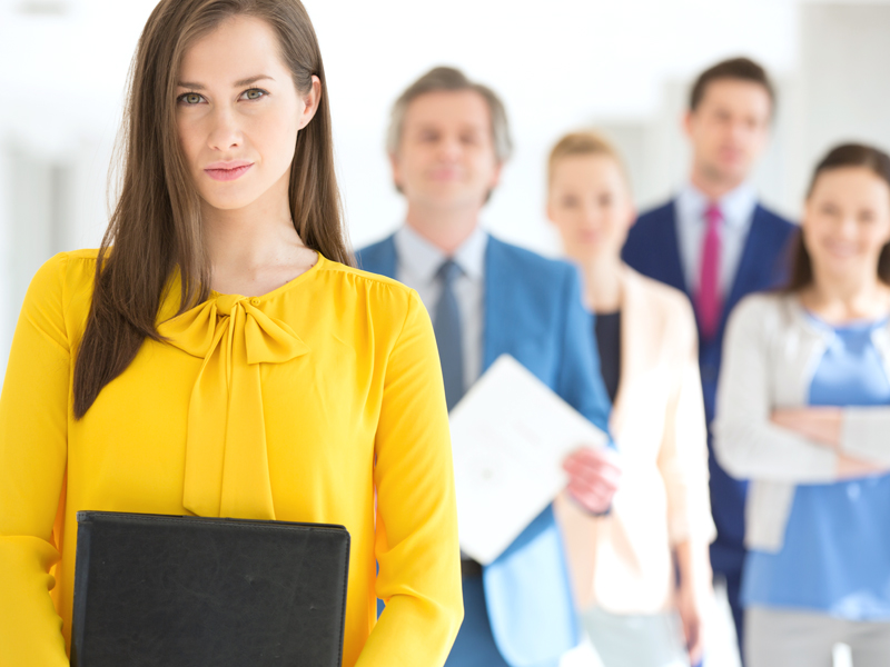 group of people in corporate attire
