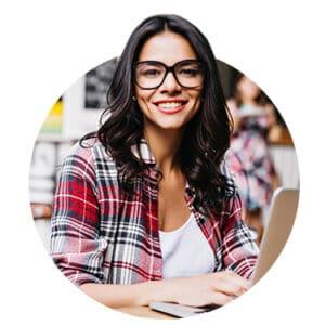 Girl Smiling Laptop